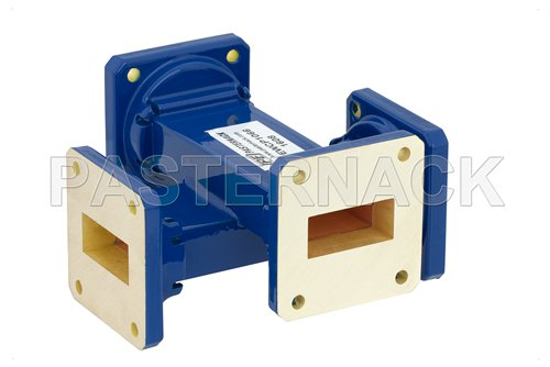 WR-112 50 dB Waveguide Crossguide Coupler, UG-51/U Square Cover Flange, 7.05 GHz to 10 GHz