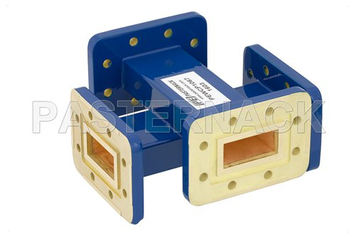 WR-112 20 dB Waveguide Crossguide Coupler, CPR-112G Grooved Flange, 7.05 GHz to 10 GHz