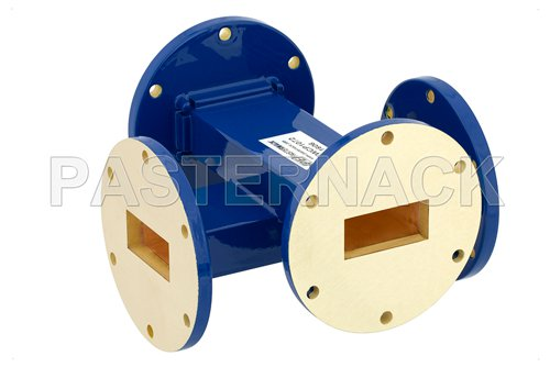 WR-137 30 dB Waveguide Crossguide Coupler, UG-344/U Round Cover Flange, 5.85 GHz to 8.2 GHz