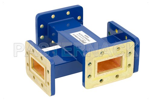 WR-137 30 dB Waveguide Crossguide Coupler, CPR-137G Grooved Flange, 5.85 GHz to 8.2 GHz