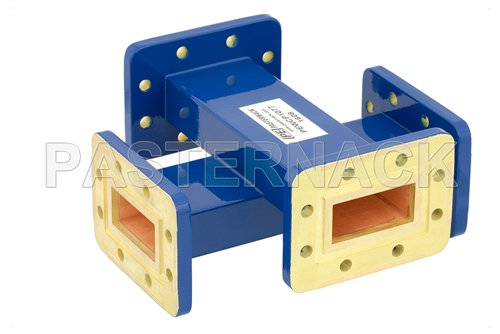 WR-137 40 dB Waveguide Crossguide Coupler, CPR-137G Grooved Flange, 5.85 GHz to 8.2 GHz
