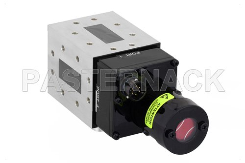 WR-137 Waveguide Electromechanical Relay SPDT Latching Switch, C Band 8.2 GHz Max Frequency, 12,000 Watts, CPR-137F Flange