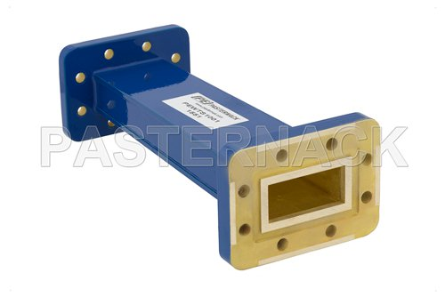 WR-137 to WR-112 Waveguide Transition 6 Inch Length, CPR-137G Grooved Flange to CPR-112G Grooved Flange