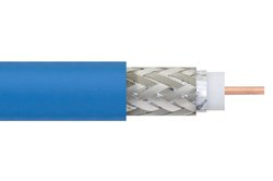 75 Ohm Flexible PE-B159-BL Coax Cable Double Shielded with Blue PVC Jacket