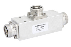 Low Loss 4.8 dB 7/16 DIN Unequal Tapper Optimized For Mobile Networks From 380 MHz to 2.7 GHz Rated To 300 Watts