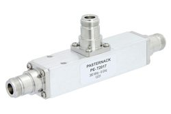 Low PIM 20 dB N Unequal Tapper from 380 MHz to 6 GHz Rated to 300 Watts