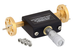 0 to 30 dB Waveguide Continuously Variable Attenuator, WR-10, From 75 GHz To 110 GHz, UG 387/U-Mod Flange