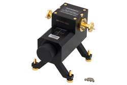 0 to 50 dB Waveguide Direct Read Attenuator, WR-10, From 75 GHz to 110 GHz, UG-387/U-Mod Flange