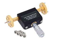 0 to 30 dB Waveguide Continuously Variable Attenuator, WR-12, From 60 GHz To 90 GHz, UG-387/U Flange