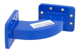 WR-137 Commercial Grade Waveguide H-Bend with CPR-137G Flange Operating from 5.85 GHz to 8.2 GHz