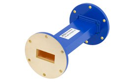 WR-137 Commercial Grade Straight Waveguide Section 6 Inch Length with UG-344/U Flange Operating from 5.85 GHz to 8.2 GHz