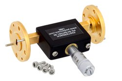 0 to 30 dB Waveguide Continuously Variable Attenuator, WR-19, From 40 GHz To 60 GHz, UG383/U-Mod Flange