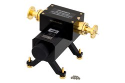 WR-19 Waveguide Direct Read Attenuator, 0 to 50 dB, From 40 GHz to 60 GHz, UG-383/U-Mod Round Cover Flange, Dial