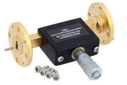 0 to 30 dB Waveguide Continuously Variable Attenuator, WR-22, From 33 GHz To 50 GHz, UG-383/U Flange