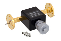 0 to 180 Degree WR-22 Waveguide Phase Shifter, From 33 GHz to 50 GHz, With a UG-383/U Round Cover Flange