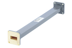 WR-90 Commercial Grade Straight Waveguide Section 12 Inch Length with UG-39/U Flange Operating from 8.2 GHz to 12.4 GHz