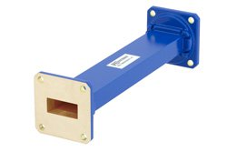 WR-90 Commercial Grade Straight Waveguide Section 6 Inch Length with UG-39/U Flange Operating from 8.2 GHz to 12.4 GHz