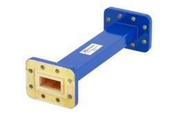 WR-90 Commercial Grade Straight Waveguide Section 6 Inch Length with CPR-90G Flange Operating from 8.2 GHz to 12.4 GHz