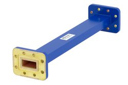 WR-90 Commercial Grade Straight Waveguide Section 9 Inch Length with CPR-90G Flange Operating from 8.2 GHz to 12.4 GHz