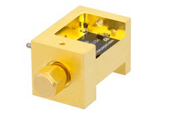 Waveguide Up Converter Mixer WR-15 From 50 GHz to 75 GHz, IF From DC to 18 GHz And LO Power of +13 dBm, UG-385/U Flange, V Band