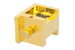 PE13U1004 - Waveguide Up Converter Mixer WR-22 From 33 GHz to 50 GHz, IF From DC to 18 GHz And LO Power of +13 dBm, UG-383/U Flange, Q Band