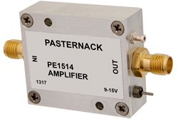 10 dBm P1dB, 10 MHz to 3 GHz, Gain Block Amplifier, 12 dB Gain, 5.5 dB NF, SMA