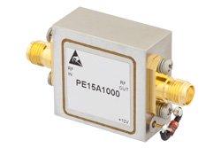 PE15A1000 - 1.5 dB NF, 10 dBm Psat, 1 GHz to 2 GHz, Low Noise Amplifier, 35 dB Gain, SMA