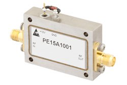 PE15A1001 - 2 dB NF, 13 dBm Psat, 2 GHz to 4 GHz, Low Noise Amplifier, 38 dB Gain, SMA