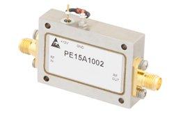 PE15A1002 - 2 dB NF, 13 dBm Psat, 4 GHz to 8 GHz, Low Noise Amplifier, 38 dB Gain, SMA