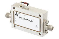 PE15A1003 - 2.2 dB NF, 13 dBm Psat, 8 GHz to 12 GHz, Low Noise Amplifier, 38 dB Gain, SMA