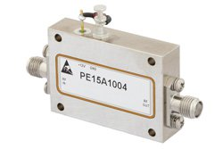 PE15A1004 - 3 dB NF, 13 dBm Psat, 12 GHz to 18 GHz, Low Noise Amplifier, 38 dB Gain, SMA