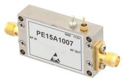 PE15A1007 - 29 dBm IP3, 2.5 dB NF, 16 dBm P1dB, 0.009 MHz to 3 GHz, Low Noise Amplifier, 32 dB Gain, SMA