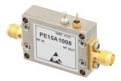 PE15A1008 - 25 dBm IP3, 1.6 dB NF, 13.5 dBm P1dB, 20 MHz to 3 GHz, Low Noise Amplifier, 25 dB Gain, SMA
