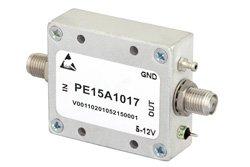 PE15A1017 - 35 dBm IP3, 2 dB NF, 20 dBm P1dB, 500 MHz to 3 GHz, Low Noise Amplifier, 14.5 dB Gain, SMA