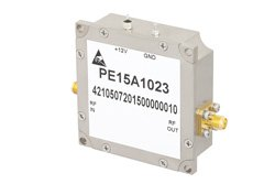 PE15A1023 - 1.5 dB NF, 10 dBm P1dB, 1.2 GHz to 1.4 GHz, Low Noise Amplifier, 25 dB Gain, SMA
