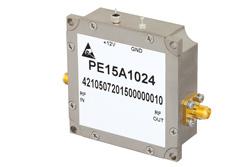PE15A1024 - 1.5 dB NF, 17 dBm P1dB, 1.2 GHz to 1.4 GHz, Low Noise Amplifier, 35 dB Gain, SMA
