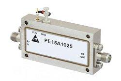 PE15A1025 - 48 dB Gain, 2.2 dB NF, 13 dBm Psat, 8 GHz to 12 GHz, Low Noise Amplifier, SMA