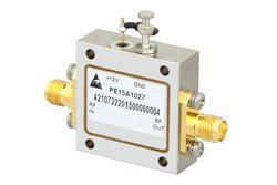 PE15A1027 - 2.2 dB NF, 13 dBm Psat, 8 GHz to 12 GHz, Low Noise Amplifier, 18 dB Gain, SMA