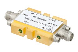 600 mW P1dB, 10 MHz to 15 GHz, Medium Power Broadband Amplifier, 12 dB Gain, 4.5 dB NF, SMA