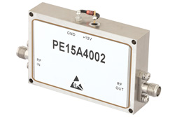1 Watt P1dB, 12 GHz to 18 GHz, Medium Power Broadband Amplifier, 33 dB Gain, 39 dBm IP3, 6 dB NF, SMA