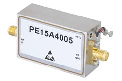 1 Watt P1dB, 2 GHz to 6 GHz, Medium Power Broadband Amplifier, 33 dB Gain, 39 dBm IP3, 5 dB NF, SMA