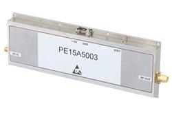 PE15A5003 - 47 dB Gain, 20 Watt P1dB, 3.1 GHz to 3.5 GHz, High Power Amplifier, SMA Input, SMA Output, 3.5 dB NF