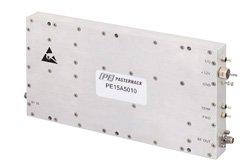 PE15A5010 - 50 dB Gain, 50 Watt P1dB, 800 MHz to 1 GHz, High Power Amplifier, SMA, 66 dBm IP3