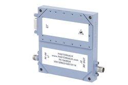 PE15A5024 - 50 dB Gain, 25 Watt Psat, 2 GHz to 6 GHz, High Power GaN Amplifier, SMA Input, SMA Output, 7 dB NF