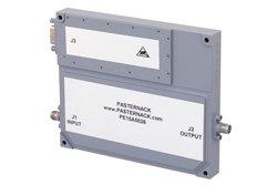 PE15A5026 - 50 dB Gain, 50.1 Watt Psat, 1 GHz to 3 GHz, High Power GaN Amplifier, SMA, 10 dB NF