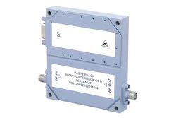 PE15A5027 - 60 dB Gain, 10 Watt Psat, 100 MHz to 6 GHz, High Power GaN Amplifier, SMA Input, SMA Output, 10 dB NF