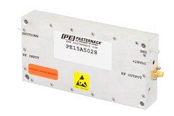 PE15A5028 - 43 dB Gain, 25 Watt Psat, 0.15 MHz to 230 MHz, High Power LDMOS Amplifier, SMA Input, SMA Output, 48 dBm IP3, Class AB