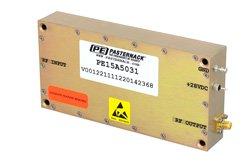 PE15A5031 - 46 dB Gain, 25 Watt Psat, 20 MHz to 1 GHz, High Power LDMOS Amplifier, SMA Input, SMA Output, 48 dBm IP3, Class AB
