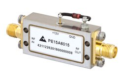 40 dB Gain, 19 dBm Psat, 2 GHz to 4 GHz, Limiting Amplifier, -20 to 10 dBm Pin, SMA