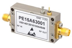 40 dB Gain, 31.5 dBm IP3, 1.5 dB NF, 17 dBm P1dB, 10 MHz to 1,000 MHz, Input Protected Low Noise Amplifier, SMA